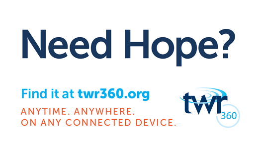 TWR360 Need Hope Card Front